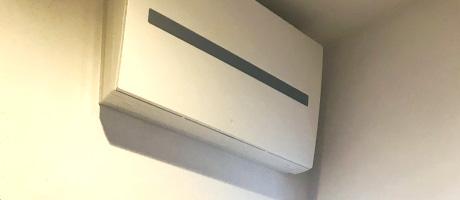 洗面室エアコン設置