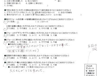 大阪市旭区 K様の声 キッチンリフォーム