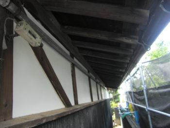 漆喰壁のやり替え
