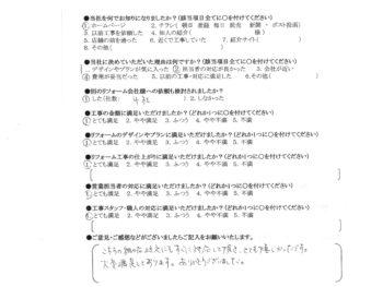 淀川区 H様の声 洗面化粧台交換