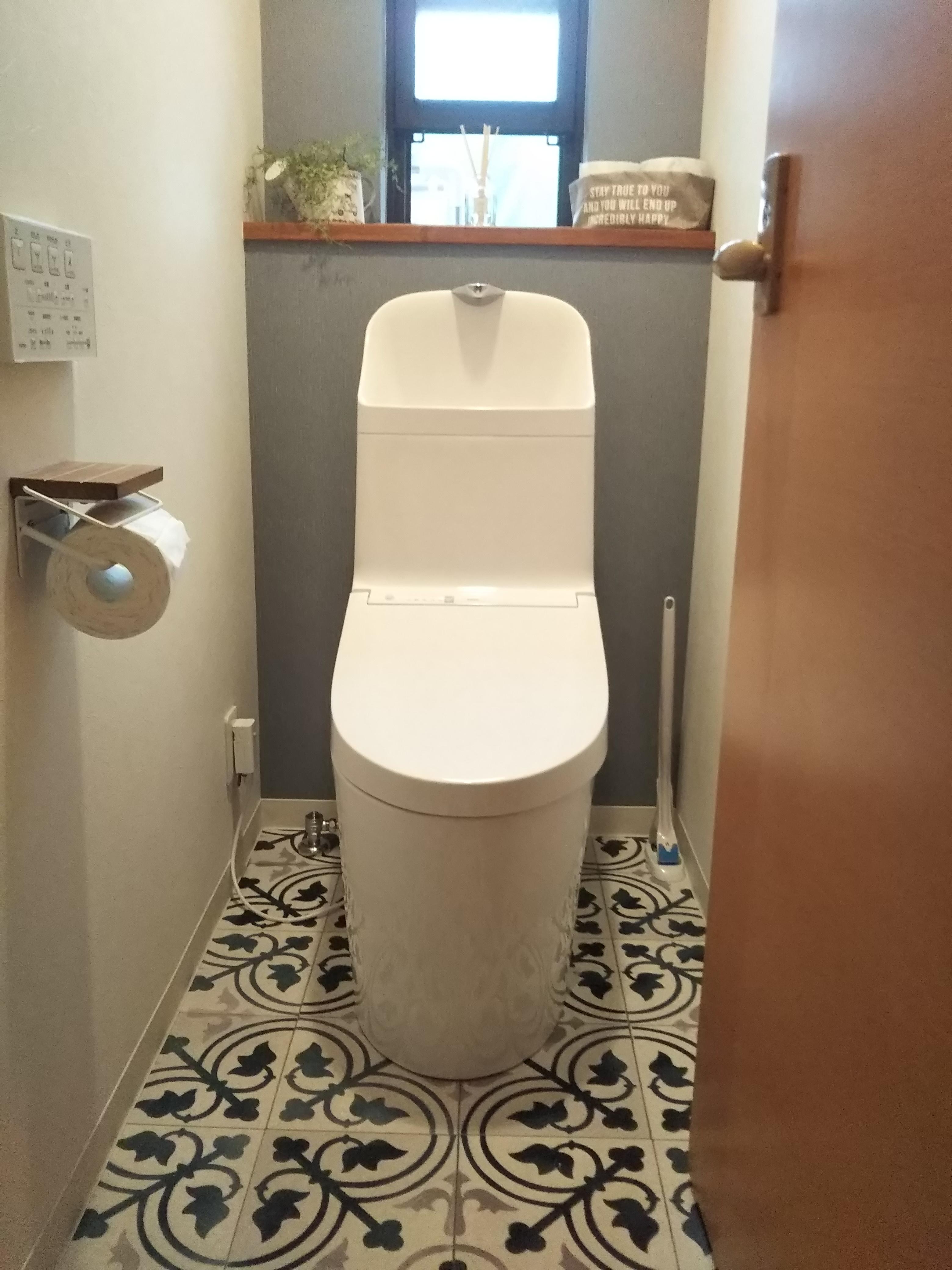 大人の雰囲気漂うトイレ室になりました